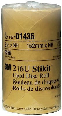 3M 01435 Stikit Gold 6 Inch P320A Grit Disc Roll