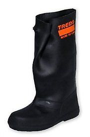 Treds 17854 Super Tough Pull-On Stretch Rubber Overboots, XX-Large (Size 17-19)