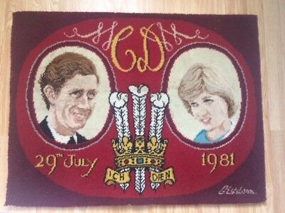 Pictorial Wallhanging The Prince Of Wales And Lady Diana Spencer Wedding 1981