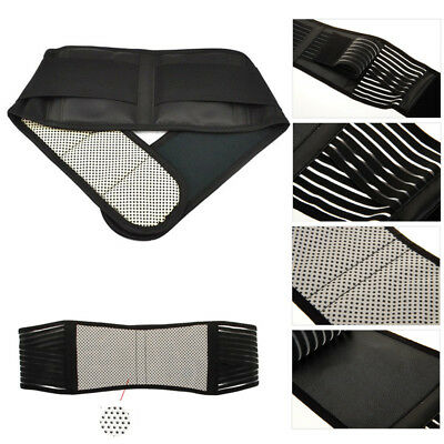 120cm Magnetic Therapy Waist Spontaneous Heating Brace Support Protection Belt T