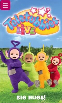 Family of 3 Ticket For Teletubbies Big Hugs Live