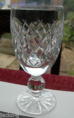 Nice Quality Single Signed Waterford Crystal Boyne Cut Sherry Glass  4-1/4""