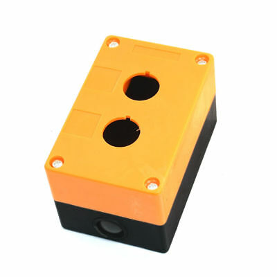 "1 Pcs 22mm/0.87""Dia 2 Hole Push Button Switch Control Switches Box Orange, Black"