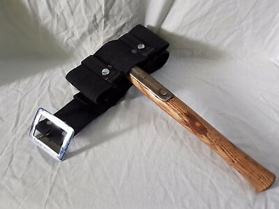 Vintage British Army Issue Fireman's Axe Elwell 5122 with belt- Dated 1955