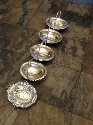 Silver Plated Swing Handled Baskets