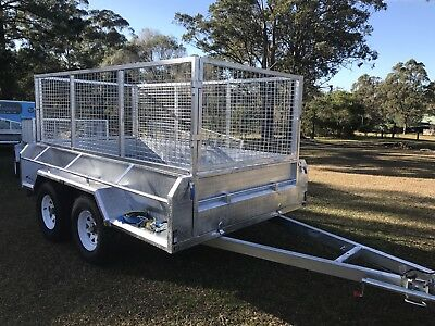 10x5 Extra Heavy Duty Off Road  Tandem Trailer Galvanised With 900 Cage