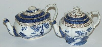 2 x Vintage Booths Real Old Willow Teapots
