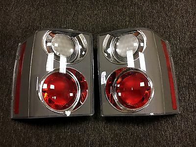 Range Rover L322 Vogue 2002-2009 Carbon Clear/red Oem Hella Rear Lights Pair