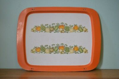 Vintage metal Willow Tv Tray orange retro metal funky kitsch LWT6