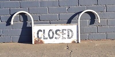 Vintage metal Closed sign shabby chic country