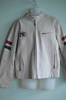 Vintage Large Mens Jacket Faux leather retro