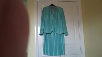 jacques vert dress and jacket worn once for a wedding dress16 jacket 14 blue