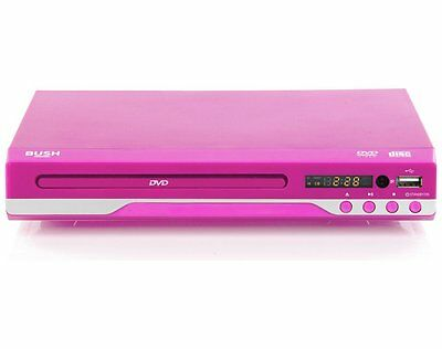Bush Compact Slimline DVD Player with USB Best Deal on eBay - In Pink RRP £29.99