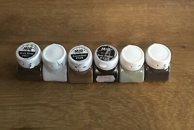 Job Lot Of MIG Productions Pigments Color For Modelling