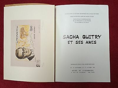 Sacha Guitry Et Ses Amis Document Philatélique Timbre Monaco