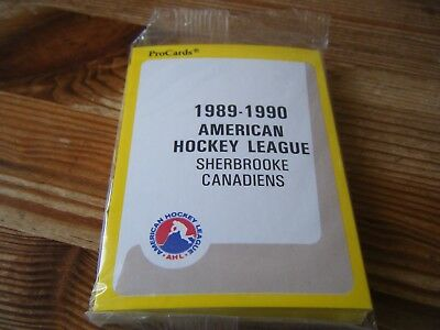 1989-1990  Complete Set Of  Sherbrooke Canadiens     Pro Cards  Ice Hockey Cards