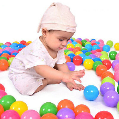 100pcs/lot Eco-Friendly Colorful Soft Plastic Water Pool Ocean Wave Ball Baby Fu