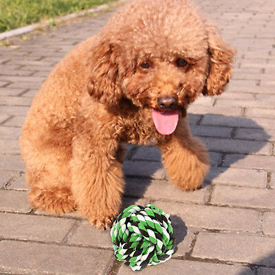Pet 6cm Round Ball Rope Ball Dogs Cats Chew Fun Knot Biting Toy