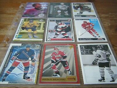 234   Mint  Usa  Ice Hockey   Cards  From  Over  200  Different Sets  In Sleeves