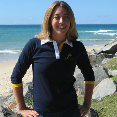 Wallabies Ladies L/S Polo Shirt - Navy  Size 18  **SALE PRICE**