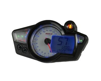 multifunktions-tachometer Koso RX1N GP Style White Blue