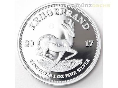 50th Anniversary Krugerrand South Africa 1 oz Silver 2017 Proof