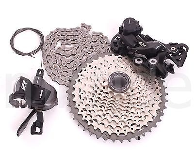 2017 Shimano 4pcs Deore XT M8000 11S Shifter,Derailleur,Cassette,Chain Group set
