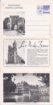 France 1938 white paper illustrated fold-out stationery unused, no 9