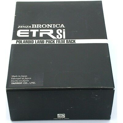 Bronica ETR ETRS ETRSi Polaroid Back, boxed, near mint condition
