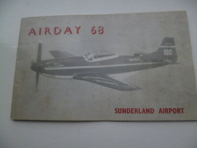 """1968 Sunderland Airport , Usworth """" Airday """"  Open Day Booklet, Photos Adverts"""