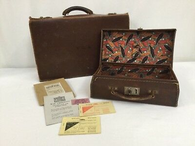 Vintage War Time Luggage Suitcase Wedding With Replica Fuel Ration Books
