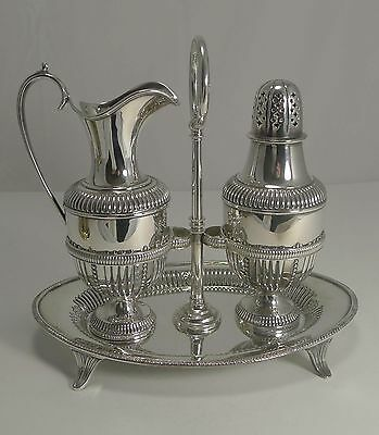 Antique English Silver Plated Sugar and Cream Set by Roberts and Belk c.1880