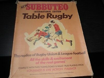 Subbuteo Rugby Set - International Edition -  Subbuteo Rugby - Complete - Rugby