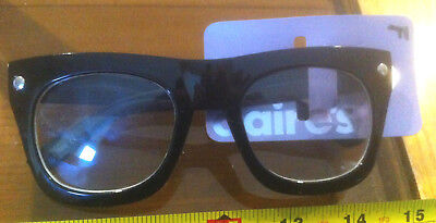 64b0d8abb Claire's Claires Accessories Fashion Glasses Black Rim £5.50 RRP Two Ronnies