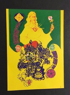 1968 The Fugs + Others Original Postcard Show In Avalon Ballroom Vintage Music