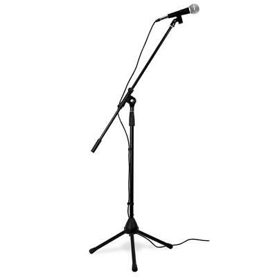 Skytec Microphone Xlr Mic Tripod Stand Carry Case Cable