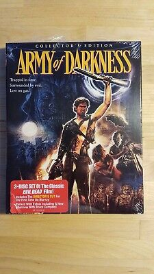 Army of Darkness (Blu-ray Disc, 2015, 3-Disc Set) Scream Factory
