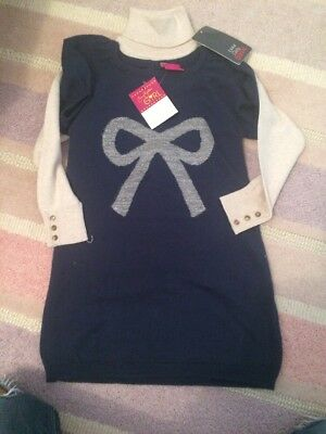 BNWT Zara And Emma Bunton Girls Dress And Polo Neck Outfit Age 3-4