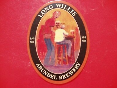 Arundel Brewery Long Willie Bar Pump Badge Great Of Your Husbands Man Cave