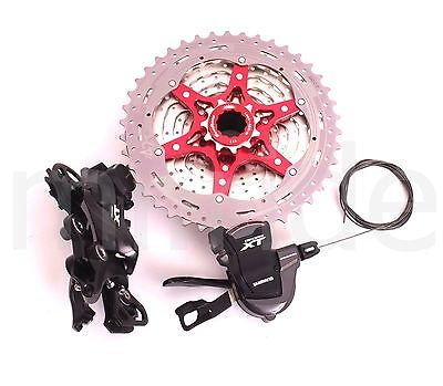 3pcs Shimano XT M8000 11S Shifter,Derailleur+SunRace Cassette 42T Bike group set