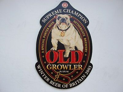 Nethergate Brewery Old Growler Bar Pump Badge Great Of Your Husbands Man Cave