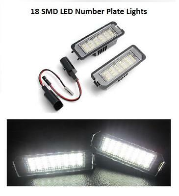 2 x Error Free LED Number License Plate Light Units for Volkswagen VW Polo 2000-