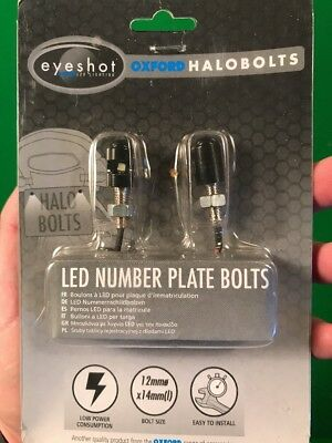 Oxford Halobolts LED Number Plate Bolts