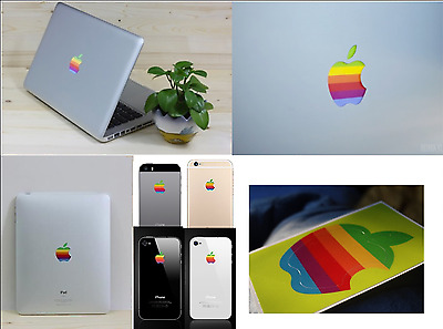 APPLE LOGO Sticker 2x iPhone 1x iPad Macbook Pro Air iMac - Adesivo Decal MELA
