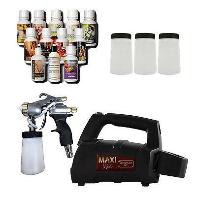 Maximist Spraymate Pro Sunless Spraytan HVLP System w Tampa Bay Tan Solution