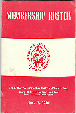 Vintage Railway & Locomotive Historical Society Roster 1921-1980 Great reference