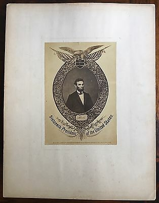 President Abraham Lincoln The Martyr of Freedom 1865 Large Albumen Photo