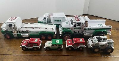 Lot Of 7 Hess Toy Vehicles Trucks Toy Plus Extra Helicopter Tested Sound Lights