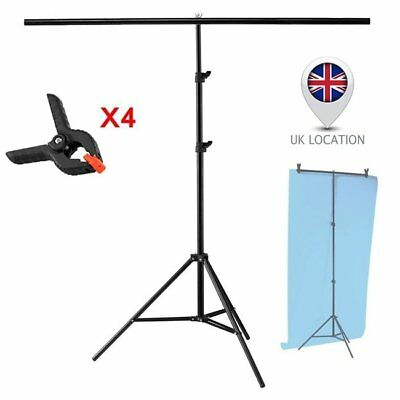 2x2m Photography PVC Backdrop Background Large Support Stand System Metal UK