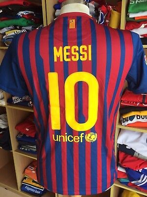 Trikot FC Barcelona 2011/12 (170)#10 Messi Nike Jersey Shirt Camiseta XL Youths